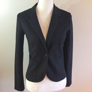 H&M black fully lined knit blazer